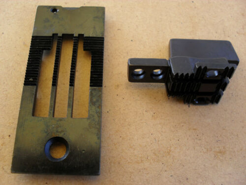 NEW FEED DOG AND THROAT PLATE TO SUIT INDUSTRIALSEIKO LSW28L TWO NEEDLE MACHINE