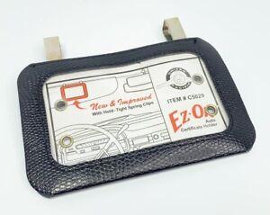 Auto Car Insurance Registration ID Card Holder - Black | eBay