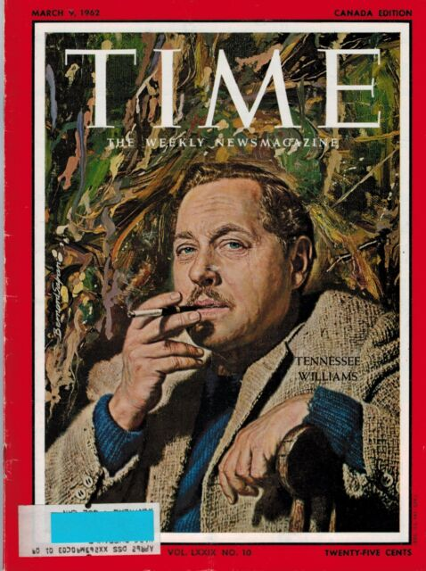 TIME Magazine 1962 , March 9 , TENNESSEE WILLIAMS (Theater )