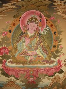 Älteres sehr feines Buddha THANGKA Padmasambhava/Guru Rinpoche aus NEPAL 55x44cm