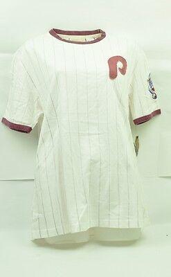 Weitere Ballsportarten Diplomatisch Mlb Philadelphia Phillies Red Jacket Damen Medium T-shirt Kurzärmelig Weißes NüTzlich FüR äTherisches Medulla Sport