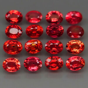 Oval-4x3-mm-Very-Good-Color-Imperial-Red-Sapphire-Songea-Africa-16Pcs-3-60Ct