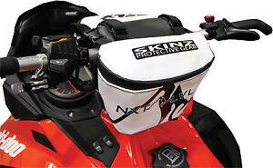 Skinz-NXT-LVL-Snowmobile-Handlebar-Bag-White-For-Ski-Doo-Arctic-Cat-amp-Yamaha