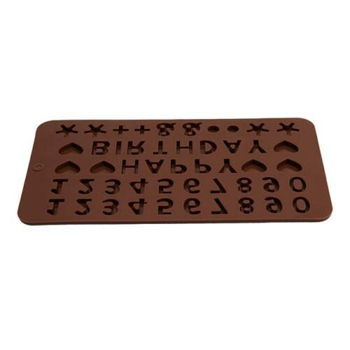 3D English Alphabet Number Letters Silicone Mold Cake Mould Baking DIY WA