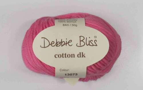 Debbie Bliss Algodón DK hilados-Varios Tonos 50g Bolas