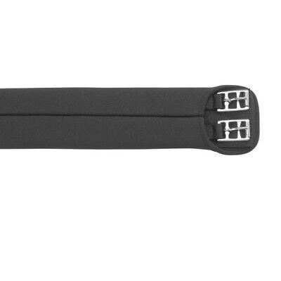 Horka Kurzgurt weich gepolstert Waffeloptik schwarz Gr.70 cm,Dressurgurt 180071