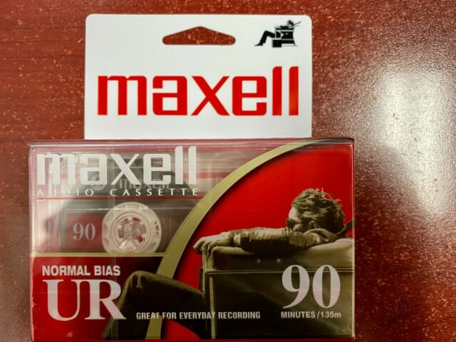 BRAND NEW MAXELL UR-90 BLANK AUDIO CASSETTE TAPES 20 TAPES 90 Min Normal Bias