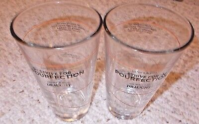 NEW Miller Coors Libbey Draught Beer 16 oz Pourfection Mixing Glasses 2