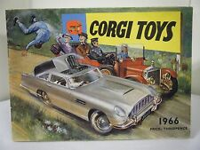 """Corgi Catalogue: """"1966 - U.K. Edition - 40 Pages with Prices"""""""