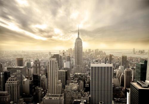 Papier Peint New York Skyline papiers peints photos Motif papier peint Toile-Papier Peint la fresque