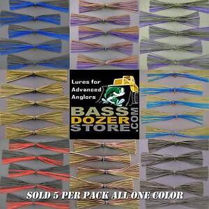BIO-SILK-SKIRTS-bass-jig-spinnerbait-buzz-bait-fishing-lure-skirts-Qty-5-pak