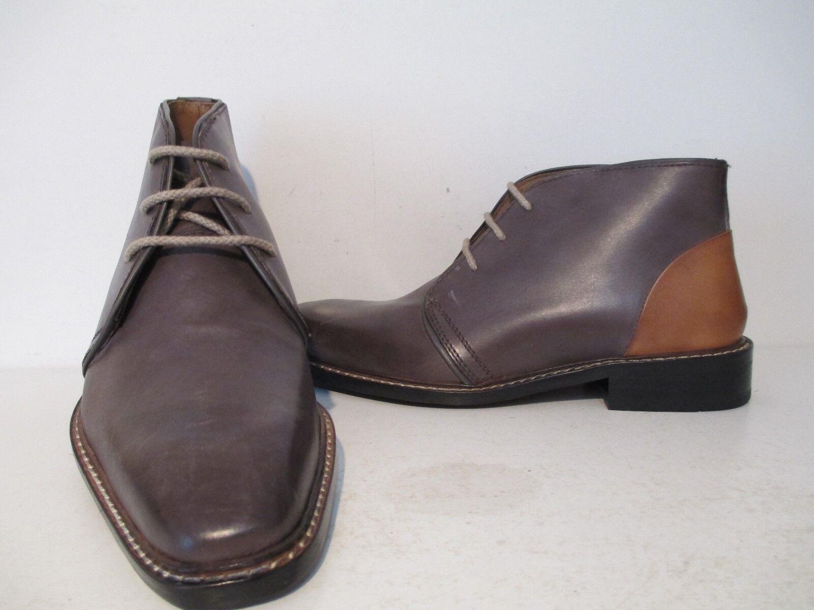 Giorgio Brutini Mens 24927 Thornton Leather Ankle Dress Boot Grey/Tan Size 7.5 M