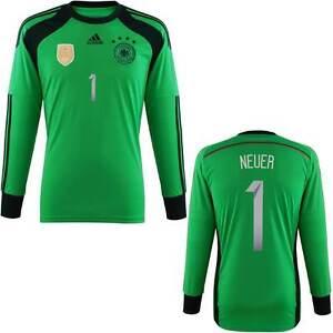 ADIDAS M. NEUER GERMANY GOALKEEPER 4 STAR JERSEY FIFA WORLD CUP 2014 ... eda7da6f9d85b
