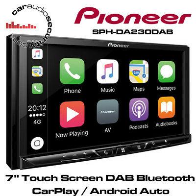 "Pioneer Sph-da230dab 7"" Touch Screen Dab Bluetooth Carplay Android Auto Stereo Angenehm Zu Schmecken"