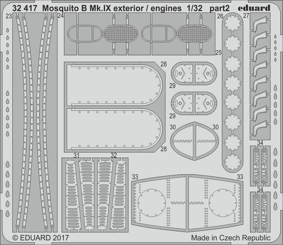 EDUARD 1 32 De De De Havilland Mosquito B mk.ix esterni MOTORI 43a693