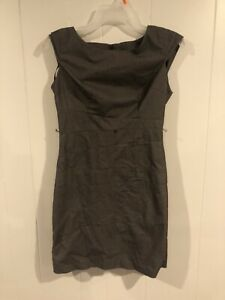 A-Byer-Womens-Size-7-Brown-Pencil-Dress-With-Back-Zipper