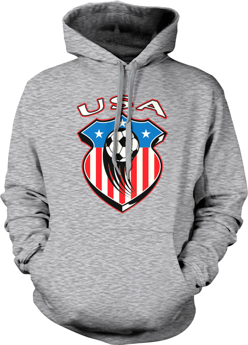 USA United States America Badge Crest American Flag Soccer US Hoodie Sweatshirt