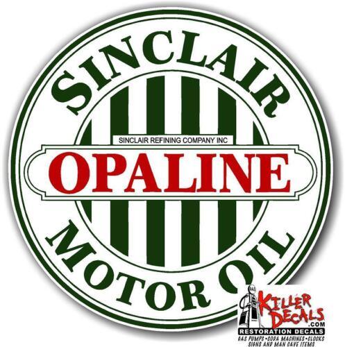 "10/"" SINCLAIR OPALINE MOTOR OIL GASOLINE GAS DECAL SINC-OIL-12"