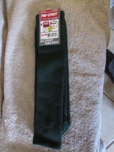 Large-Football//Soccer//Baseball 3 T Pro Sport All Sport Tube Socks-Dark Green