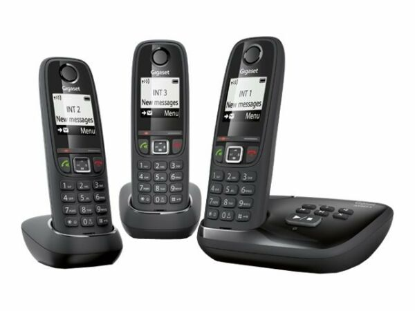 gigaset as405a trio digital cordless phone with answering. Black Bedroom Furniture Sets. Home Design Ideas