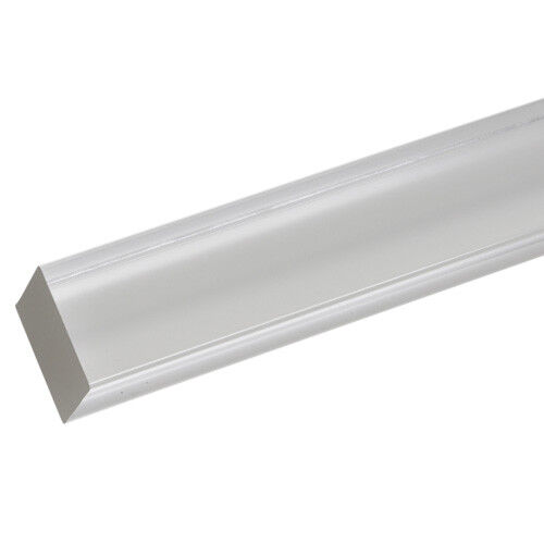 """- 2 PACK 12/"""" x 1/"""" Acrylic Square Rod Extruded - Clear Nominal"""