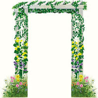 Tatouage Trellis Doorway With Field Of Flowers Rub-on Transfer Mural