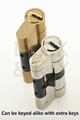 Brass YALE Platinum 3 Star Euro Cylinder Anti Snap Bump High Security uPVC Door Barrel TS2007:2013 Lock 95mm 45//50