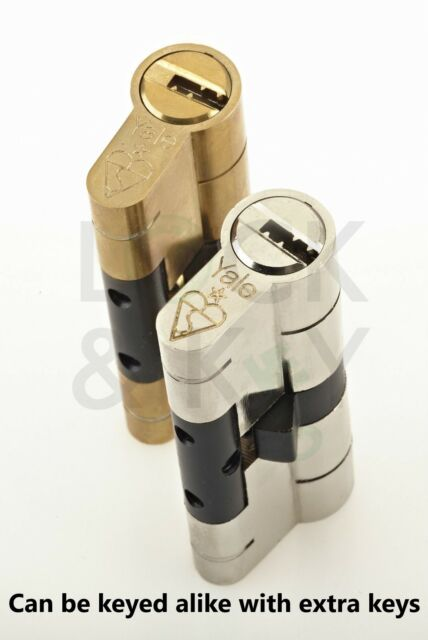 YALE Superior Euro Cylinder Anti-Bump Snap Defence High Security uPVC Door Lock