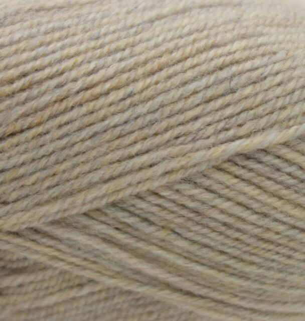 100g Grey Beige Oatmeal Tweed 100/% English Wool Double knitting yarn dk 2//4nm