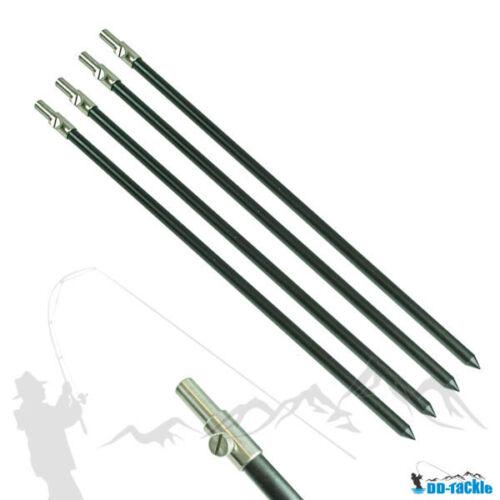 2 Stück Aluminium Bank Stick 50-90cm Bankstick Rutenhalter Rutenauflage Rod Pod