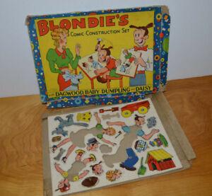 VINTAGE-BLONDIE-COMIC-CONSTRUCTION-KIT-1934-CHIC-YOUNG-STRIP-COMICS