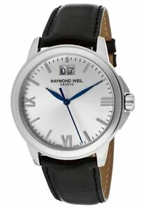 Raymond Weil Geneve Tradition Men's Leather Stainless Steel Watch 5476-ST-00657