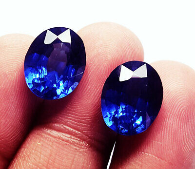Natural White Loose Gemstone Sapphire Pair Certified 8 to 10 ct With Free Shipping