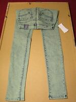 Women's Skinniest Jeans Bullhead Color L Green Size 3.