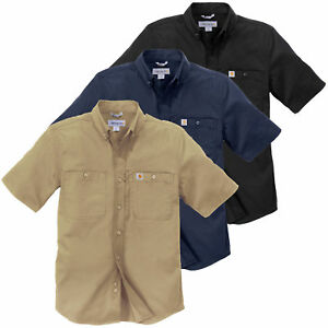 Carhartt-Herren-Hemd-Rugged-Prof-Short-Sleeve-Shirt-Workershirt-S-M-L-XL-XXL-NEU