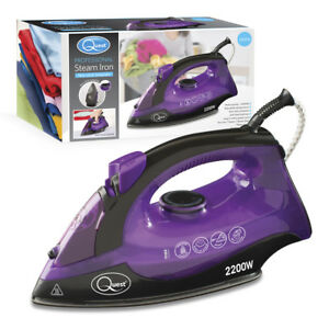 Quest-2200W-Handheld-Professional-Steam-Iron-Non-Stick-Soleplate-Self-Cleaning