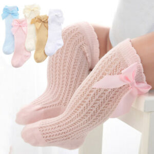 Bowknot-Baby-Socks-Girls-Summer-autumn-Mesh-Kids-Infant-Toddler-Knee-High-Socks