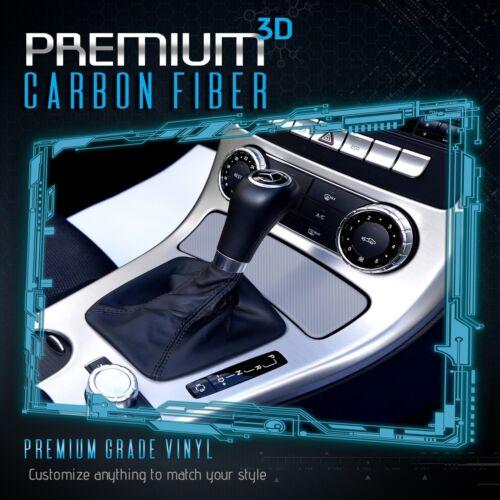 """3D Silver Carbon Fiber Matte Vinyl Wrap Bubble Free Air Release 48/"""" x 60/"""" In"""