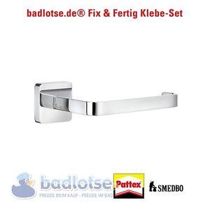 smedbo ice wc papierhalter rollenhalter kleber ok3411 klebe set ohne bohren ebay. Black Bedroom Furniture Sets. Home Design Ideas