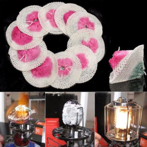 10Pcs Mesh Camping Lantern Mantles Kerosene Lamp Mantle Paraffin Oil Gas S//L Hot