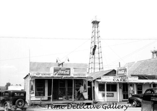 1939 St Historic Photo Print Louis Oklahoma Cafes on Main Street