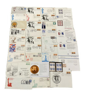 Statue Of Liberty 100th/Centennial Rare Stamps/Stamped Envelopes Lot Of 39