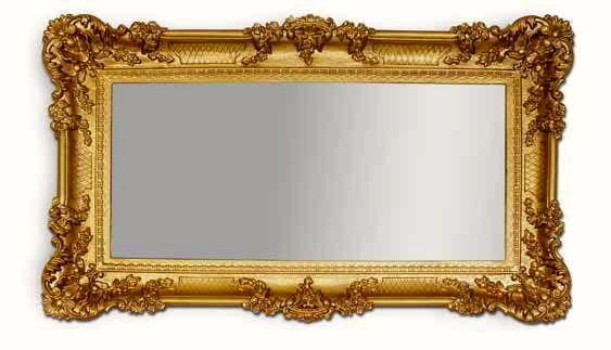 Espejo de Parojo Barroco oro ANTIGUO 96x57 baño grande