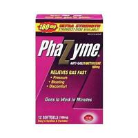 2 Pack - Phazyme 180mg Anti-gas Simethicone 12 Softgels Each on sale