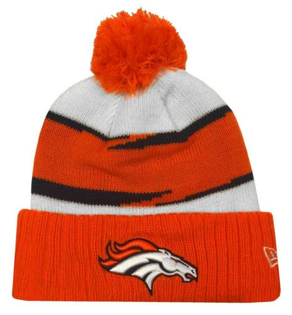 New Era 2018 NFL Denver Broncos Thanksgiving Stocking Knit Hat Beanie  Winter POM bd43a6138784