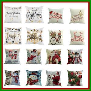 Xmas-Cotton-Pillow-Case-Linen-Cushion-Cover-Merry-Christmas-Home-Decoration-GN