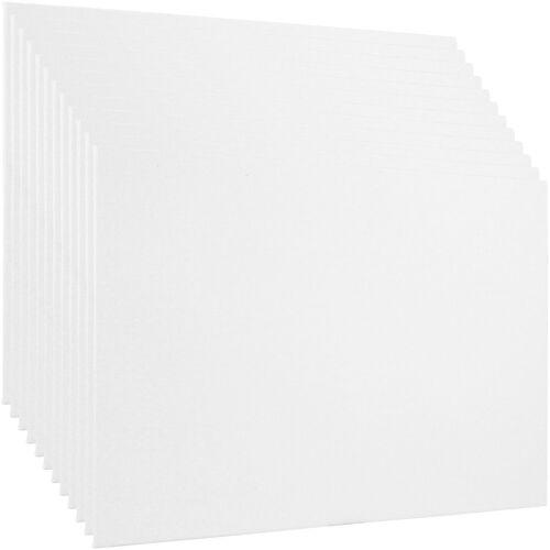 "Blank Cotton Canvas Panels 12/""x24/"" 12 PK Mounted Art Boards Paint Supplies Craft"