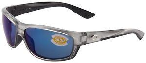 f0a22a847b Costa Del Mar Saltbreak Sunglasses BK-18-OBMP Silver 580P Blue ...