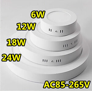 Surface-Mounted-DEL-Panel-Light-Square-Round-Ceiling-Downlight-Wall-Lamp-6-24-W