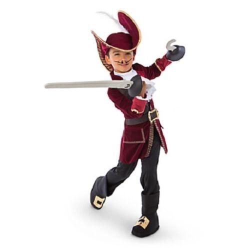 CAPTAIN HOOK~Costume~Jacket+Pant+Dickie+HAT+SWORD+HOOK~NWT~Disney Store~2016